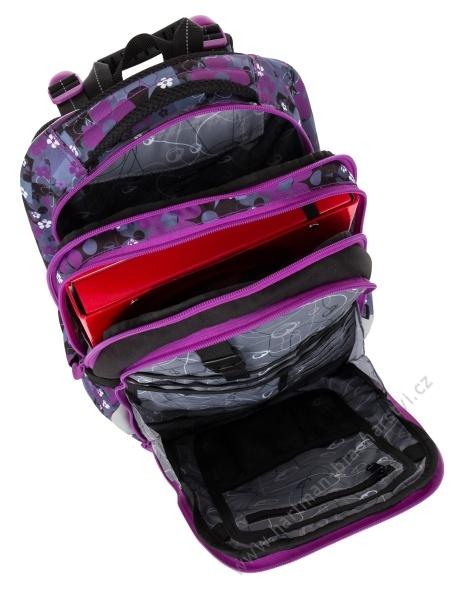 3363a4ee5df Školní batoh BAGMASTER MERCURY 8 A BLACK PINK VIOLET - Hartman ...